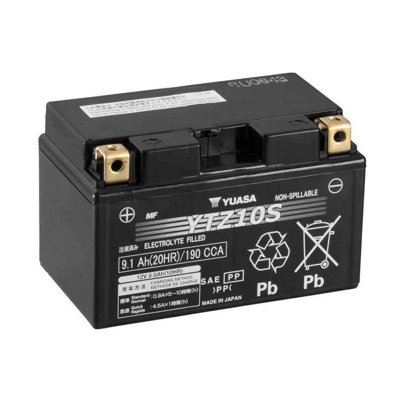 Batterie HONDA cbf1000 FS ABS Année de construction 2013 Yuasa ytz10s